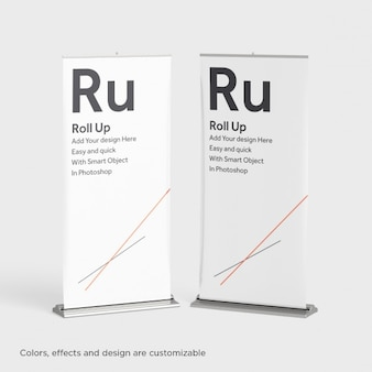 Two roll ups mock up