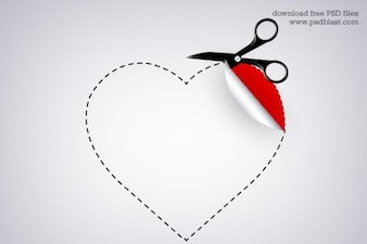 Valentine heart shaped sticker