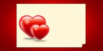 Valentine hearts card template