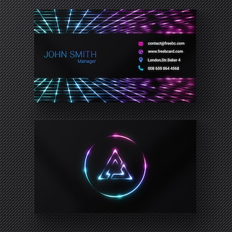 Vibrant business card
