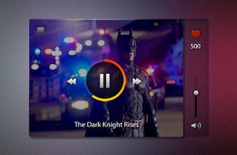 Video Player with superhero PSD