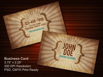 Vintage business card psd  front & back