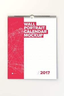 Wall calendar mock up design