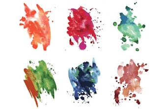 Watercolor smudges