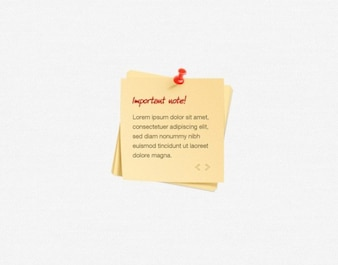 web ui stacked notes & pin element psd
