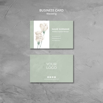 Wedding business card template