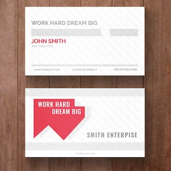 White and red corporate card