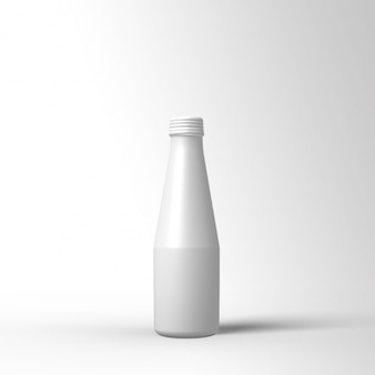 White bottle template design