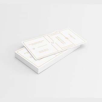 White business card with golden elements design