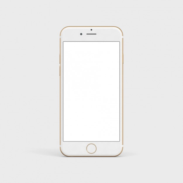 White mobile phone mock up