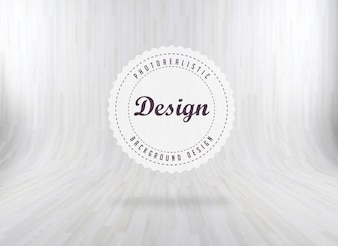 White realistic wood background