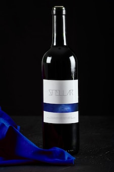 Wine bottle mock up design