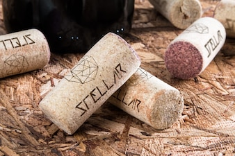 Wine cork mock up design