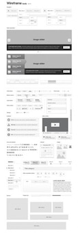 Wireframe stencil user interface kit vector