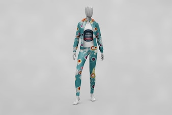 Woman sport clothes mock up