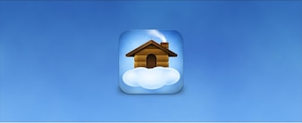 Wooden home on a cloud