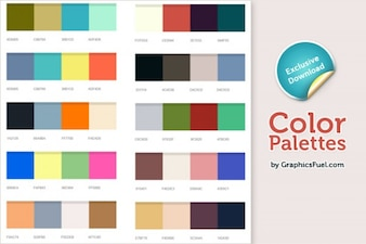 Xcellent color palettes  psd
