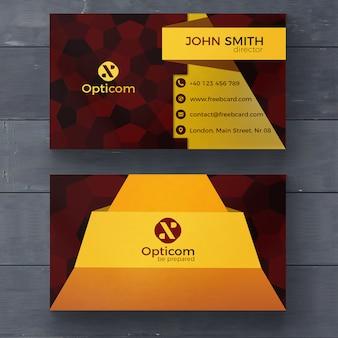 Yellow modern business card