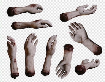 Zombie hands collection