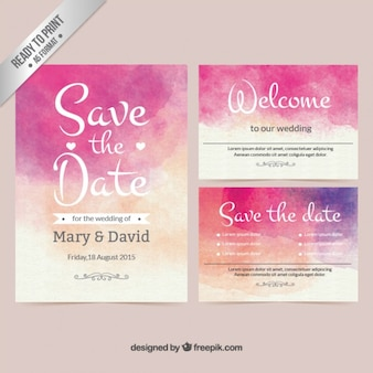 Акварель приглашение на свадьбу