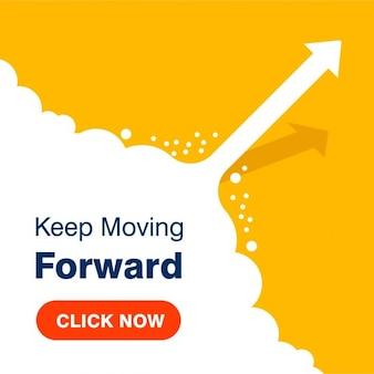 Бизнес-концепция Keep Moving фон Вперед Успех