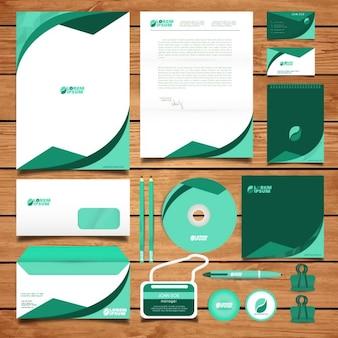 Корпоративный дизайн зеленый идентичность