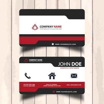 Простые современные визитные карточки
