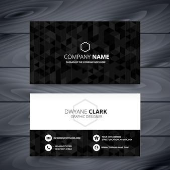 Черный многоугольной визитная карточка