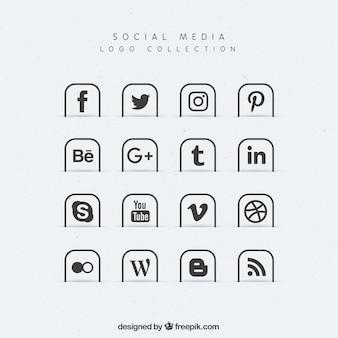 ソーシャルメディアのアイコンのコレクション