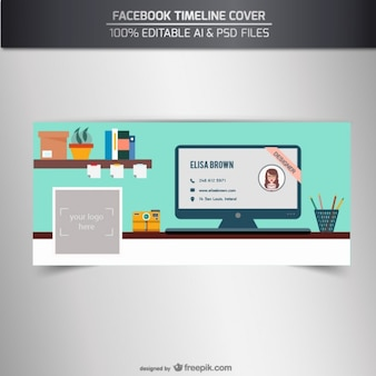 100% Editable Facebook timeline cover