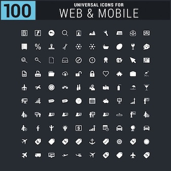 100 travel icons
