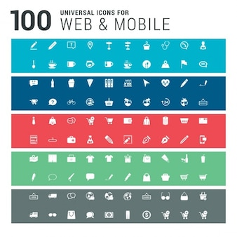 100 web and mobile icons