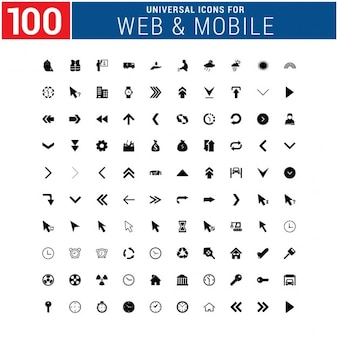 100 web icons pack
