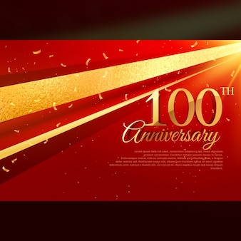 100th anniversary luxury red background