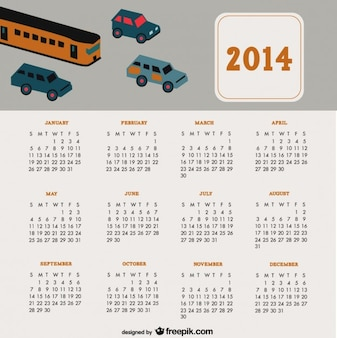 2014 Calendar Travel Cars Design