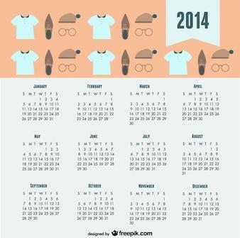 2014 Calendar Trendy Fashion Look