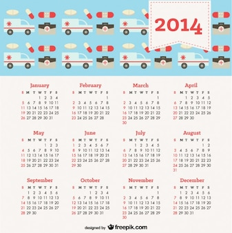 2014 Calendar with Health Concept
