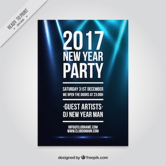 2016 party poster with lights