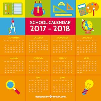 2017- 2018 school year calendar