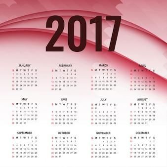2017 abstract calendar