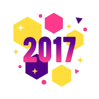 2017 background with geometric shapes