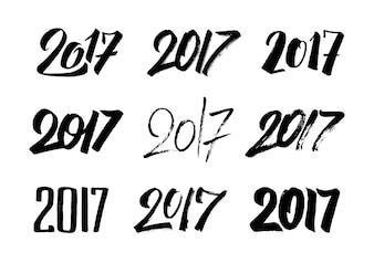 2017 black font collection