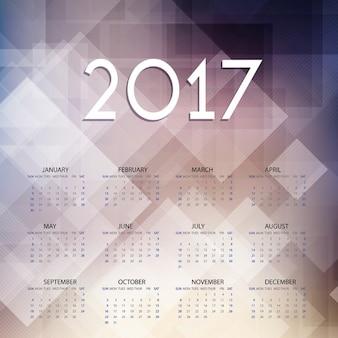 2017 calendar on geometric background