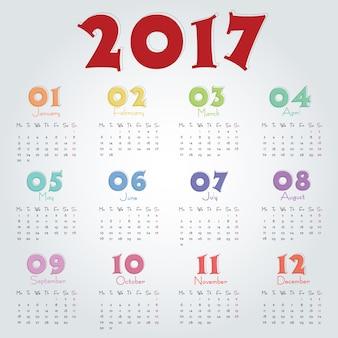 2017 calendar template