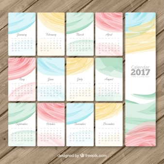 2017 calendar with abstract decoration
