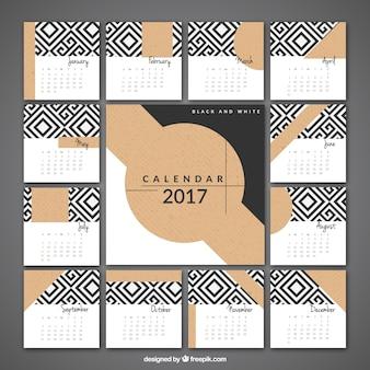 2017 elegant calendar of geometric shapes