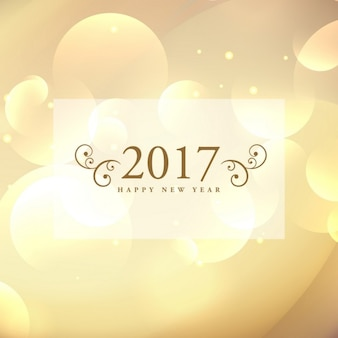 2017 golden bokeh background