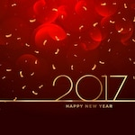 2017 new year celebration background in red color