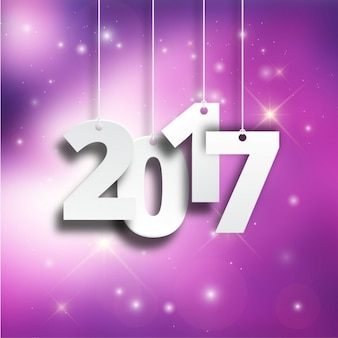2017 on a purple background