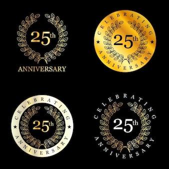 25 years celebrating laurel wreath